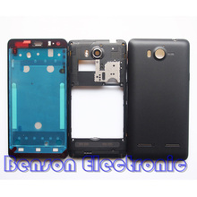 BaanSam New LCD Front Frame Middle Frame Battery Back Cover For Huawei U8950 G600 Housing Case With Antenna+Power Volume Buttons