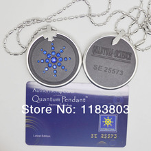 2pcs/lot Free Shipping Quantum Pendant Necklace crystal CZ.Scalar Energy pendants with authenticity card healthy jewelry HOT