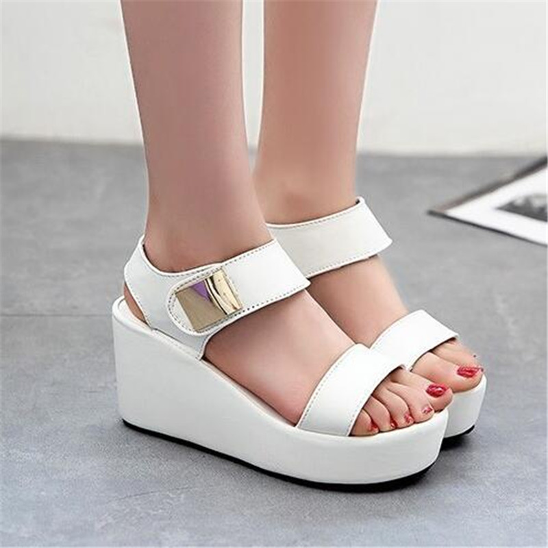 Summer shoes woman 2016 wedge sandals women peep-toe Wedges Style college zapatos mujer women sandals platform women shoesX325<br><br>Aliexpress