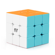 D-FantiX Qiyi Warrior W 3x3x3 Speed Cube Stickerless Professional Magic Cube Puzzles Colorful Educational Toys For Children(China)