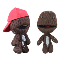1pcs 16cm Little Big Planet Plush Toy Sackboy Cuddly Knitted Stuffed Doll Figure Toys Cute Kids Animal Comfort Doll(China)
