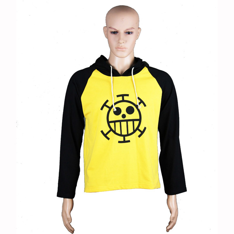Anime Cosplay One Piece Costume Trafalgar Law Hoodies Masquerade Clothes Top for Man Women Long Sleeve Plus Size 4