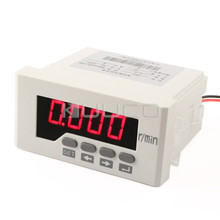 Tacho Gauge AC / DC110~220V Intelligent Digital Tachometer Red LED Speed Monitor meter 9999 rpm /DC4~20mA Wire-speed Table