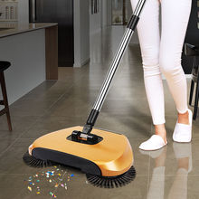 New Stainless Steel Sweeping Machine Push Type Hand Push Magic Broom Dustpan Handle Household Cleaning Package Hand Push Sweeper