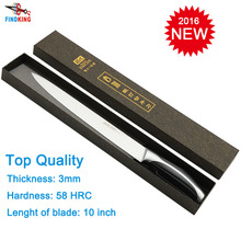 Brand new 7Cr17 as 440C top quality 10'' inch Sicing knife fish knife kitchen chef knife