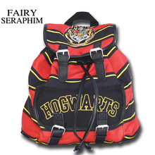 FAIRY SERAPHIM Harry Potter Backpack Printing Stripped Canvas Anime girls School bag teenagers Backpacks