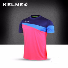 KELME New Arrival Men Soccer Jerseys Summer Breathable Quick Dry Fitness Gym Slim Fit Short Sleeve Sports T-shirt K15Z219(China)