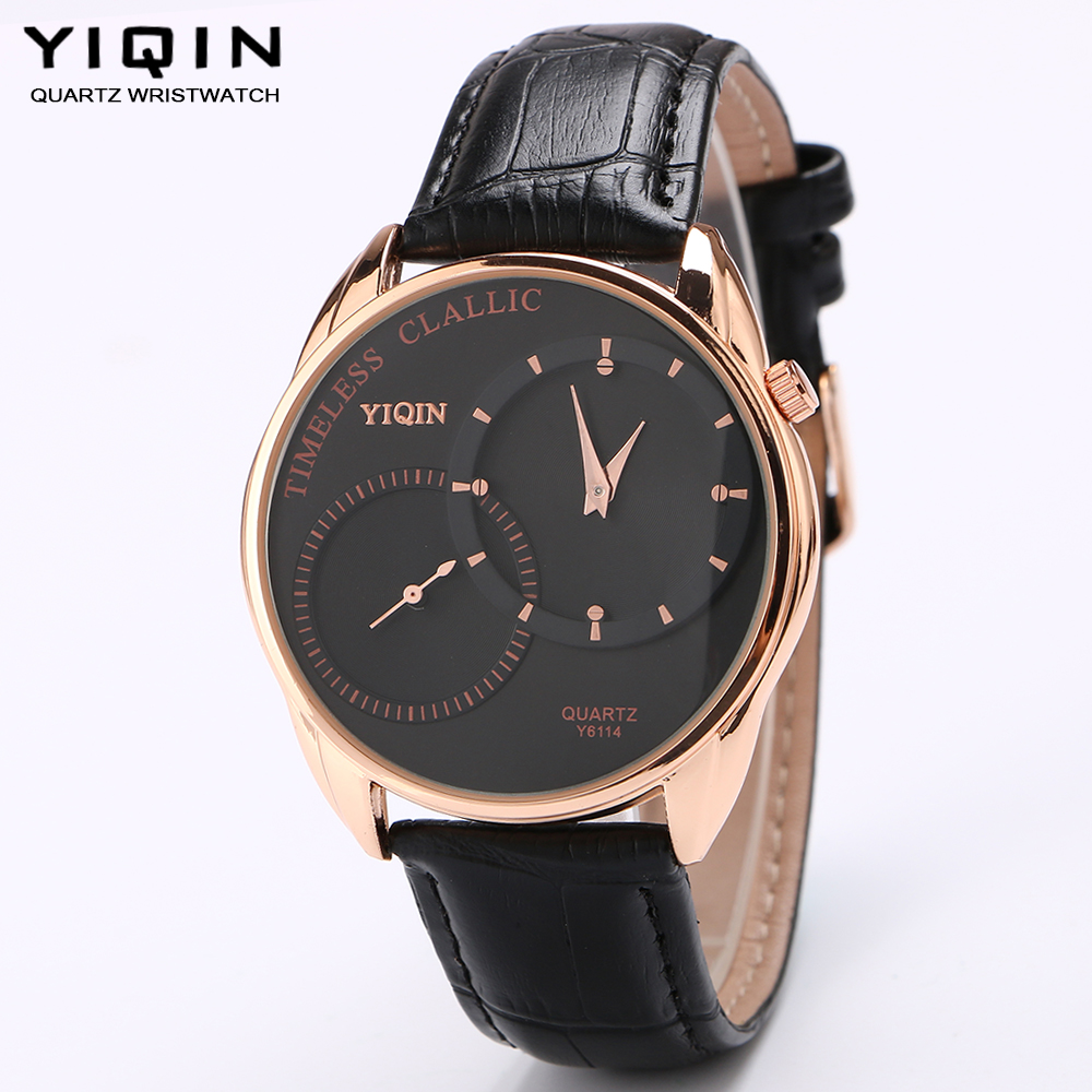 YIQIN Ms. fashion casual slim unique watch leather strap quartz watches high quality luxury brand watch independent second hand<br><br>Aliexpress