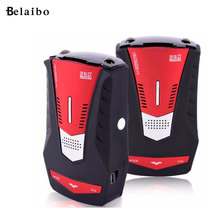 V6 LED Radar detector Red 360Degree Pads Speedometer bracket sucker Car Speed System English Russian Mobile radar car styling