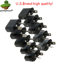 U.S. brand high quality! 10 pcs US to AU Plug adaptor plug convertor Travel Adapter Power plug Converter Wall Plug