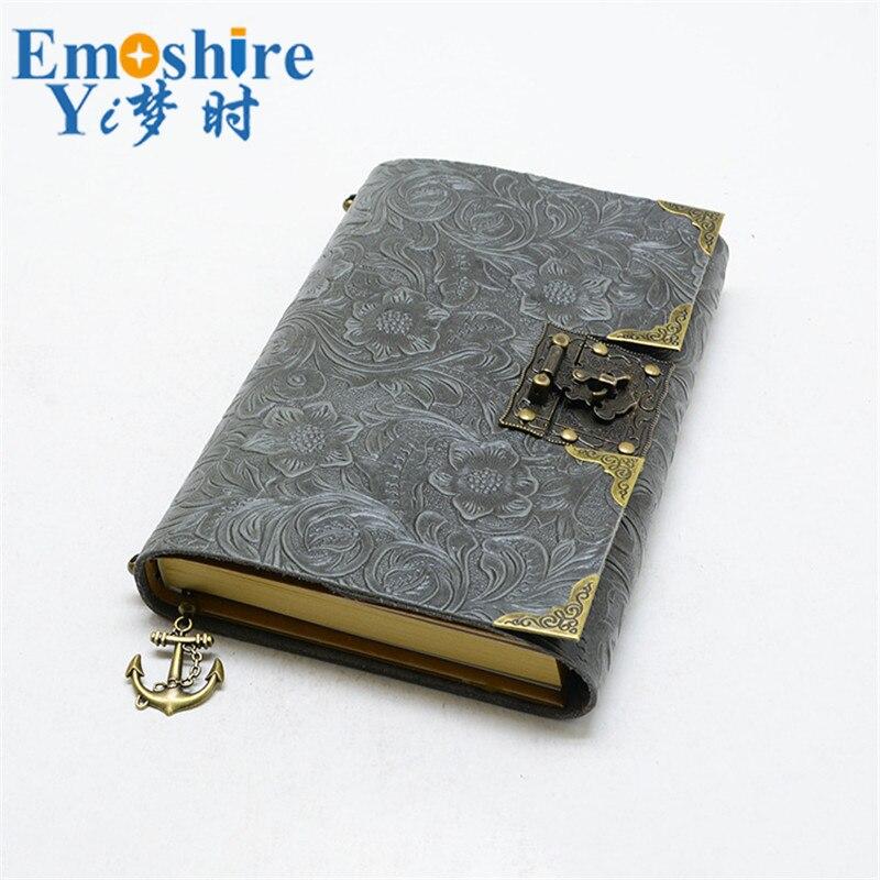 Emoshire Newest Genuine Leather Design Travelers Notebook Vintage European style Travel Journal Diary Handmade Gift N117<br>