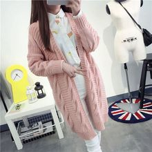 2017 New Arrivals Female Cardigan Twist Long Sleeve Slim Thin Out jacket Women Knitted Cardigan Sweater Long section Tops