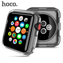 HOCO cover plating hard silicone watchbands for apple computer screen saver complete 38/42 mm silver black rose gold TPU