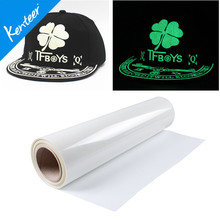 Q8 Kenteer Factory Price Glow In Dark Heat Transfer Vinyl For Garments With 0.5*25m One Roll(China)