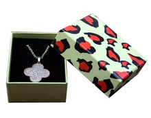 Free shipping wholesale 50pcs/lot 8.5*6.5*3.5cm Necklace Pedant+ Earring Jewellery Packing Gift Box 800g paper