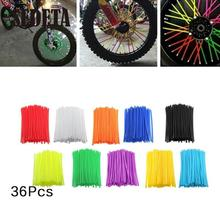 36Pcs Motorcycle Dirt Bike Enduro Wheel Rim Spoke Shrouds Skins Covers Wrap Protector For YAMAHA KAWASAKI  bmw KTM HONDA