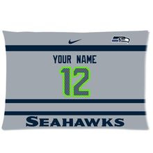 NEW Custom Pillowcase Seattle Seahawks AWAY Football With Your Name and Numbers