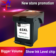 1PK For HP 63 Black ink cartridge For HP 63XL BK For HP Deskjet All-in-One 1110 1111 1112 2130 2132 2134 printer(China)