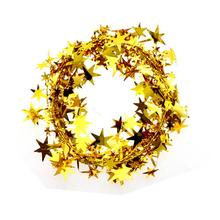 Wholesale 5M Garland Christmas Decoration Christmas Tree Hanging Star Pine Tinsel Garland Christmas Decoration Ornament Hot Sale(China)