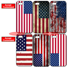 United States Flag Print Cover Case for iPhone 4 4S 5 5S SE 5C 6 6S 7 8 Plus X iPod Touch 5 LG G2 G3 G4 G5 G6 Sony Z2 Z3 Z4 Z5(China)