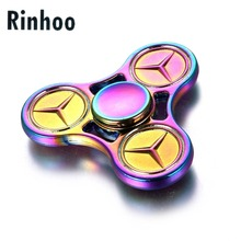Trigeminal Star Rainbow Fidget Spinner Metal Three Tri EDC Manual Finger Hand Spinning Top Spinner Toy Kid Anxiety Stress Relief