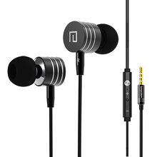 China brand Langsdom i7A headset metal earphone subwoofer stereo headphone earbud earplug with mic for xiaomi samsung iphone htc
