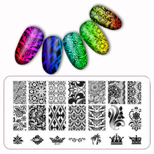 Nail Art Salon Product Laced All Series Metal nail art Stamping Image Konad Plate Print Template Classic Lace Plant BC07(China)
