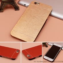 Top Quality Motomo Luxury Metal Brush Gold Case Cover For iPhone 4 4S 5 5S SE 6 6S 7 Plus Aluminum Hard Back Cover Phone Bags