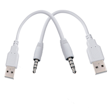 3.5 jack to USB charger Cable Adapter for Apple ipod shuffle 3rd 4th 5th 6th MP3 / MP4 Player usb2.0 charger SYNC Data Cable(China)