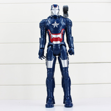"12""30cm Superheroes The New Iron Patriot Action Figure MC Movie Norman Osborn Can Move Model Doll Collectible Kids Toys(China)"