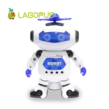 Lagopus Rotating Robot Dancing Fun Humanoid robot Electronic Robot Toys with Music and Light Toys Astronaut Best Gift for Kids(China)