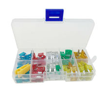 120Pcs Different Colors Mini Blade Fuse Assorted Car Vehicle Truck Mini Fuse Kit Box 5A 10A 15A 20A 25A 30A AMP for Car Truck