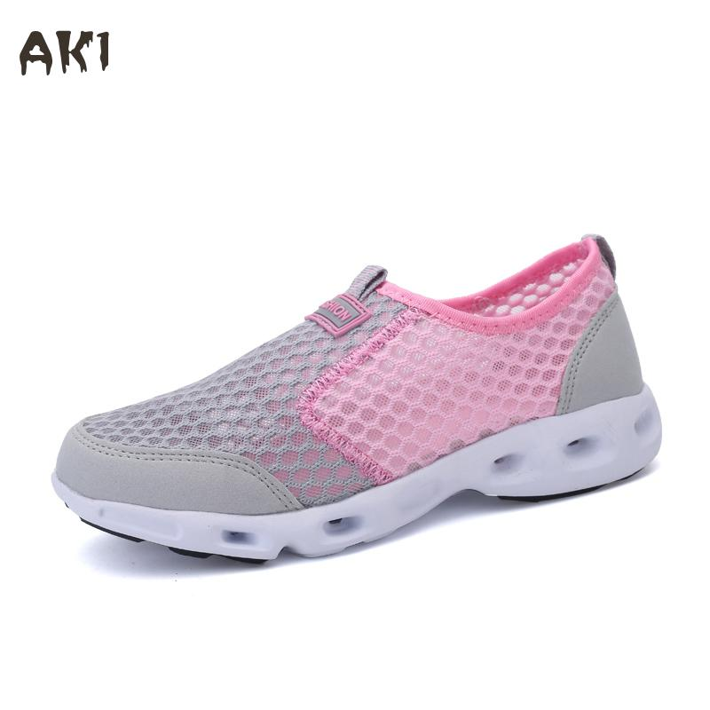 2017 New Hot Women Mesh Shoes Fashion Mixed Colors Women Shoes Breathable Flats Women Casual Shoes  Zapatillas Mujer<br><br>Aliexpress