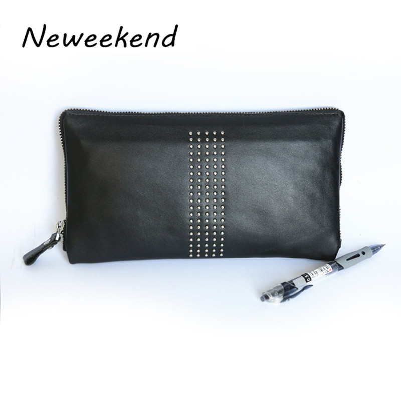 NEWEEKEND 8888 Genuine Leather NAPPA Black Large Long Portable Passport Phone Pocket Coin Cash Card Handbag Wallet Purse for Man<br><br>Aliexpress