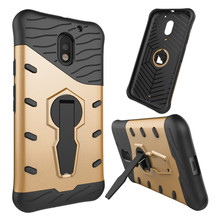 For Motorola Moto E3 /E3 power Shockproof Armor Drop Phone Case 360 rotating swivel bracket Netted heat dissipation Phone Cover