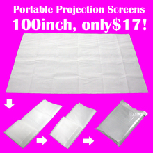 "100"" 4:3Non Woven Fabric Film Projector Professional video Screen Curtains for Mutimedia Full HD Video 3D Projectors Home Supply"