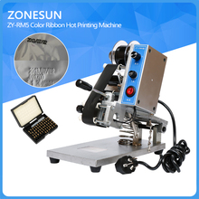 ZONESUN ZY-RM5 Color Ribbon Hot Printing Machine,Heat ribbon printer ,film bag date printer(220V/50Hz)