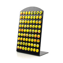 Hot Sell New 36 Pairs Emoji Happy Funny Face Stud Earring for Women Girls Ear Jewelry Gifts(China)