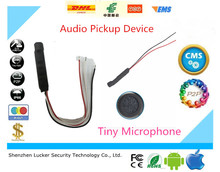 CCTV Clear High Sensitive quality Audio Pickup Device Tiny Microphone for Security Camera Two stage amplifier waterproof 5pc/lot