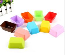freeshipping 20pcs Handmade Soap Mould Silicone Rectangle Cake Mould for Homemade Craft Soap Cake DIY Bread Loaf Toast