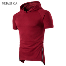 New Arrival High Quality Sweatshirt Men Fashion Supreme Hoodie Free Shipping Summer Short sleeve hoodies 5 Colors Plus SizeM-3XL