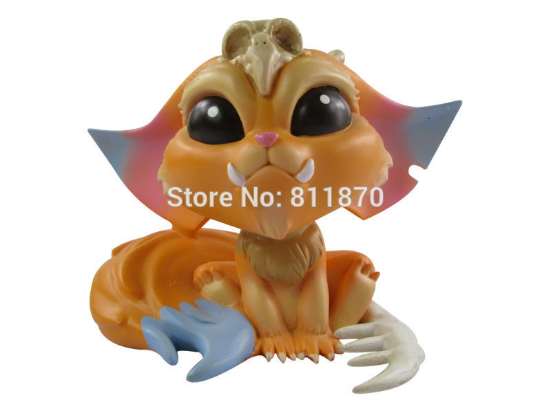 Cosplay LOL 12cm/4.7 The Missing Link Gnar PVC GK Garage Kits Action Figures Toys<br>