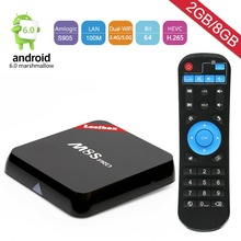 M8S pro android tv box , Live TV , more than 2000 channels , stable system , 2RAM+8GB Flash ,dvd movie , Fast shipping(China)