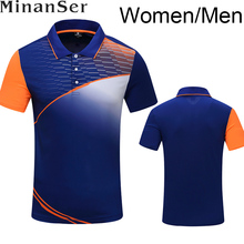 Free Printing Quick Dry breathable badminton shirt , Women/Men Tennis shirt , Table Tennis shirt 1008(China)