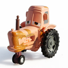 Disney Pixar Cars 2 100% original Yellow Chewall Tractor 1:55 scale diecast metal alloy model toy for kids gifts(China)