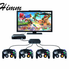 Newest Replacement Gamecube Controller Adapter Converter 4 ports Game controls Hub for WiiU Video(China)