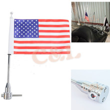 Motorcycle Luggage Rack Vertical Flag Pole American For Harley Touring Road King Glide&FLHT