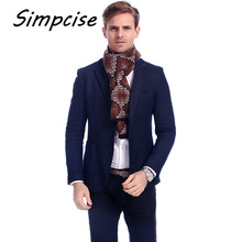 [Simpcise] Men Wild Style Scarves 2017 New Arrival Hot Sale Unique Design Windproof Warm Thick Winter Scarves A3A18924(China)