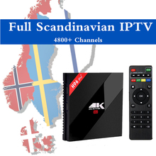 Israel IPTV H96 Pro+ Android 6.0 TV Box Nordic Europe Korean Canada IPTV 4800+Channels Amlogic S912 4K UHD Smart Hebrew IPTV Box(China)