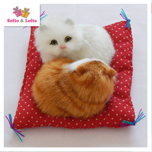 artificial cats couple toy,baby kat kittens pussy cat,doll decorations birthday gift for child girls 5_